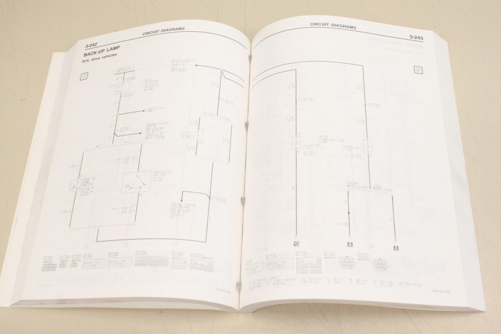 Mitsubishi Pajero 2005 Werkstatthandbuch Electrical Writing Phje0001 Wiring Diagram Index 53 Automotive Circuit D